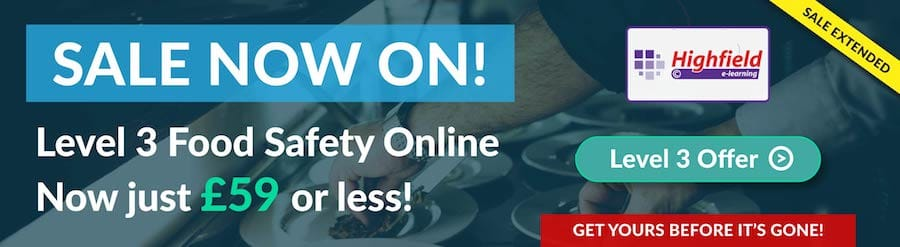 Level 3 Online Food Safety Sale Banner